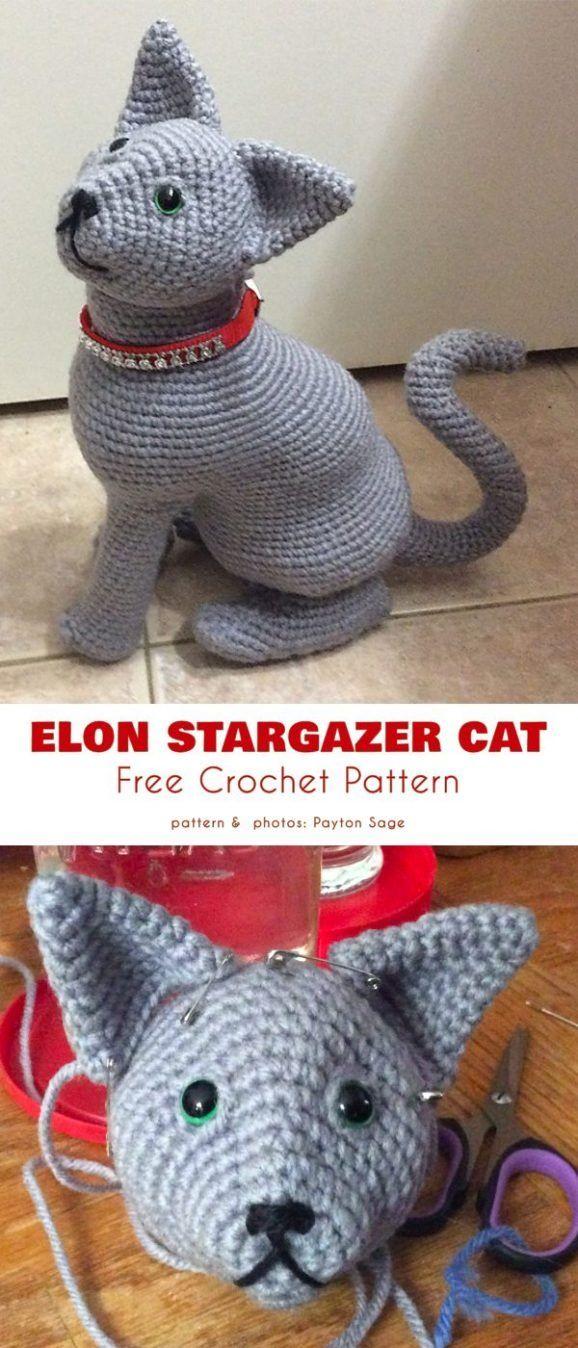 Big Amigurumi Cat Free Crochet Patterns