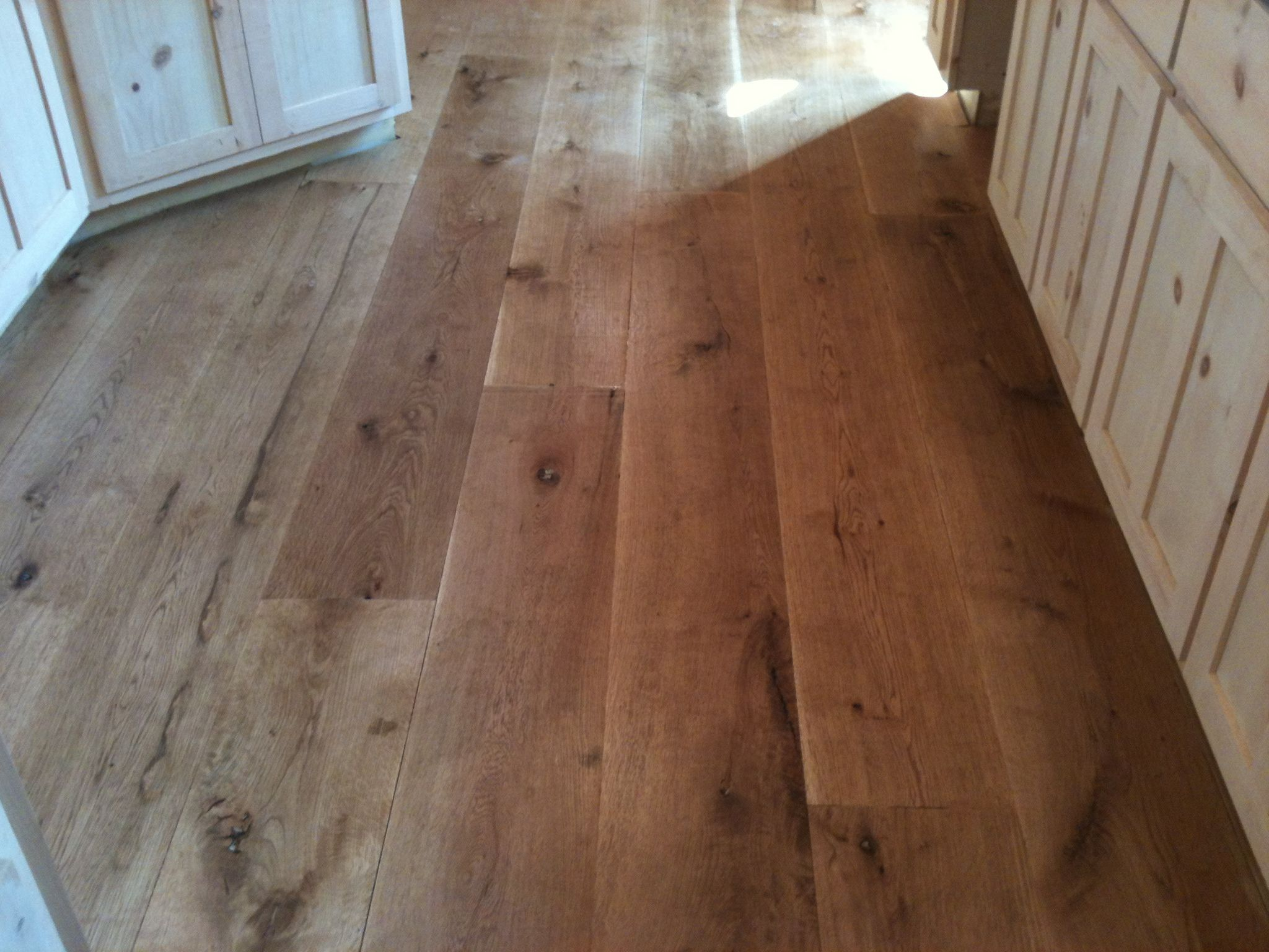 Rustic Kitchen Floors 10 Wide Plank Flooring Character White Oak Hardwood Flooring