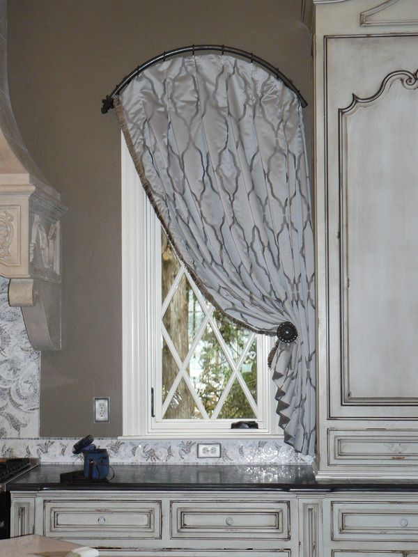 Arched Window With Arched Curtain Rod Curtains For Arched
