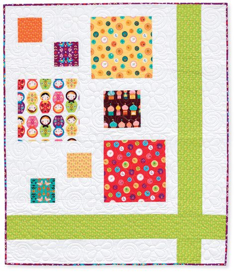 hopscotch and ribbons quilt. by rachelgriffith, via Flickr