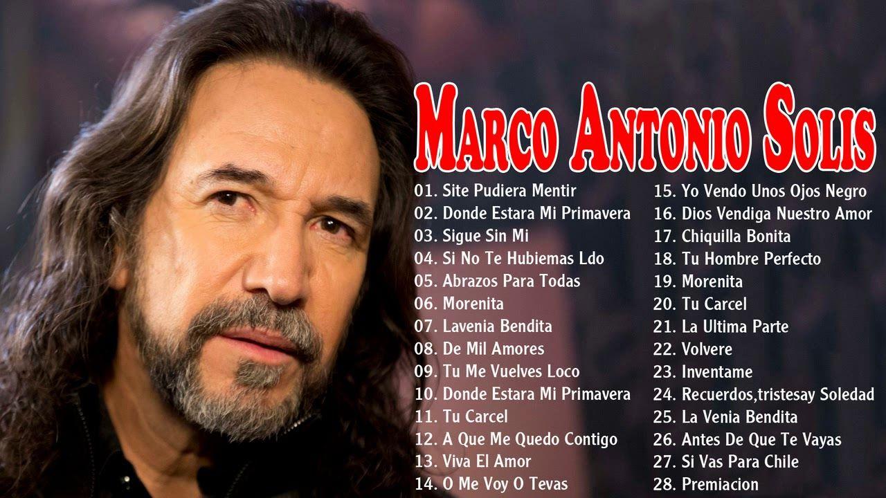 Marco Antonio Solís éxitos Sus Mejores Romanticás Mix 30 Grandes Canciones Baladas Inmortales Mix