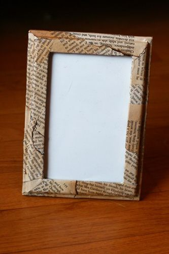 Decorating Frames | Books, Craft and Aging paper