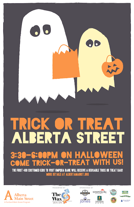Trick or treat Alberta Street this Halloween! 3306 PM