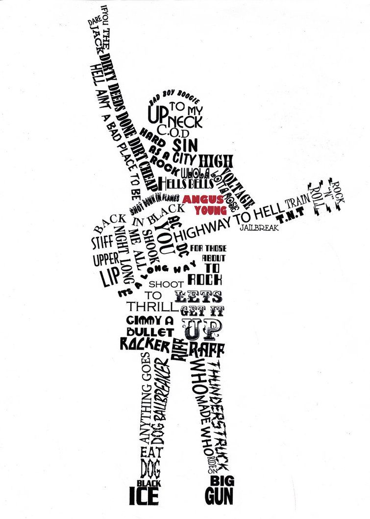 ac dc Lyric Art Typography | ACDC by lettherebeart on DeviantArt ...