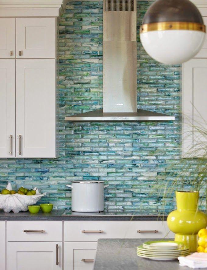 Green Backsplash Tile Ideas Part - 15: Tile All Over The Wall - Backsplash Trend, Interior Design, Kitchen  Backsplash, Color, Lighting