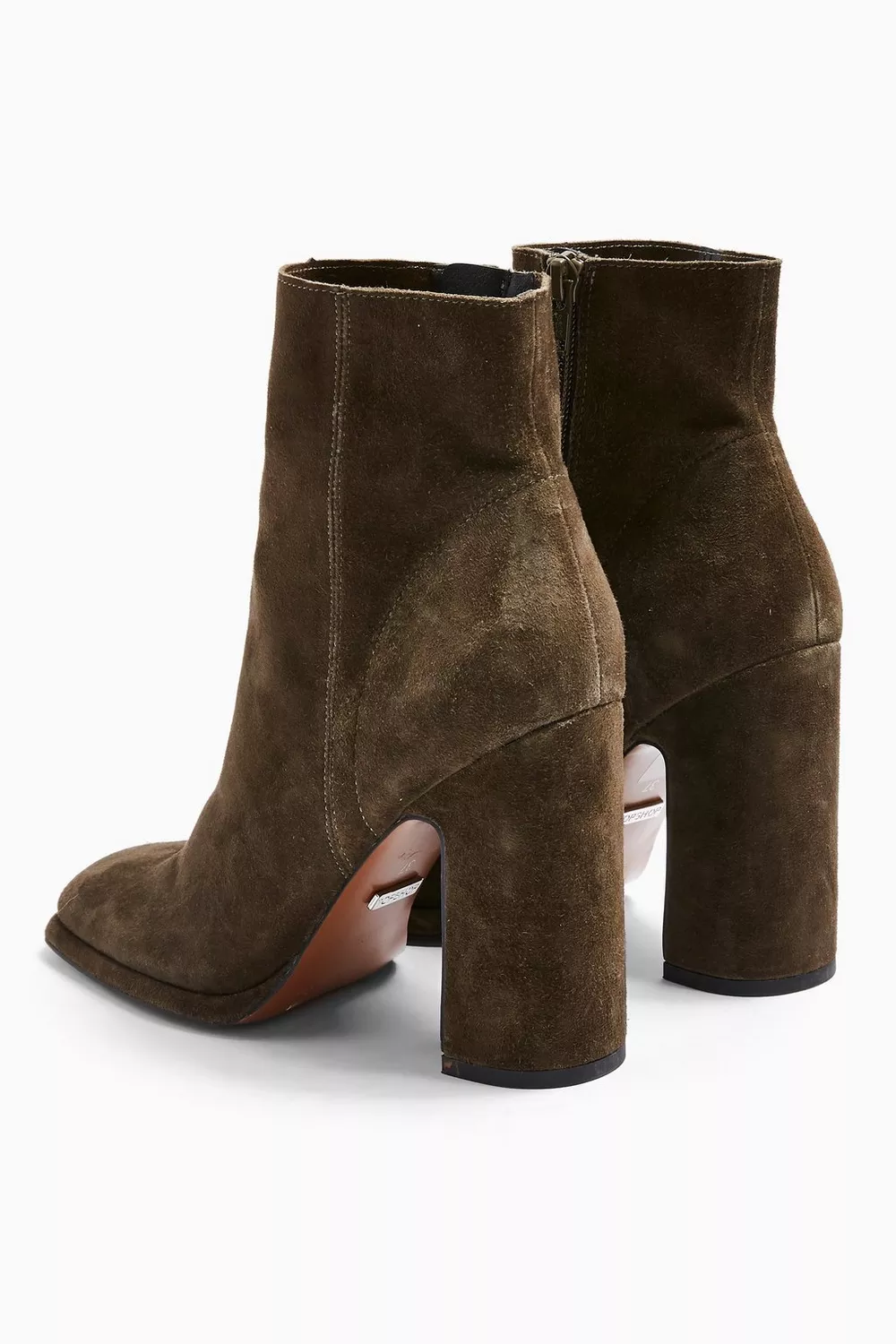HOLDEN Leather Khaki Platform Boots | Platform high heels
