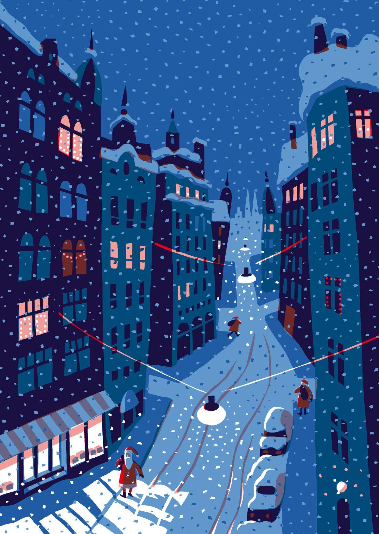 Pukit Kehvola Design, Christmas illustration, Finland