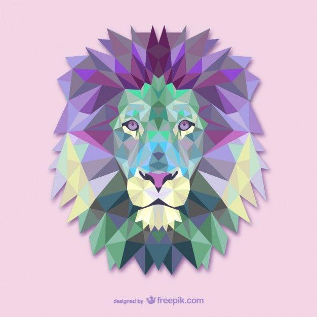 Triangolo vettoriale illustrazione leone