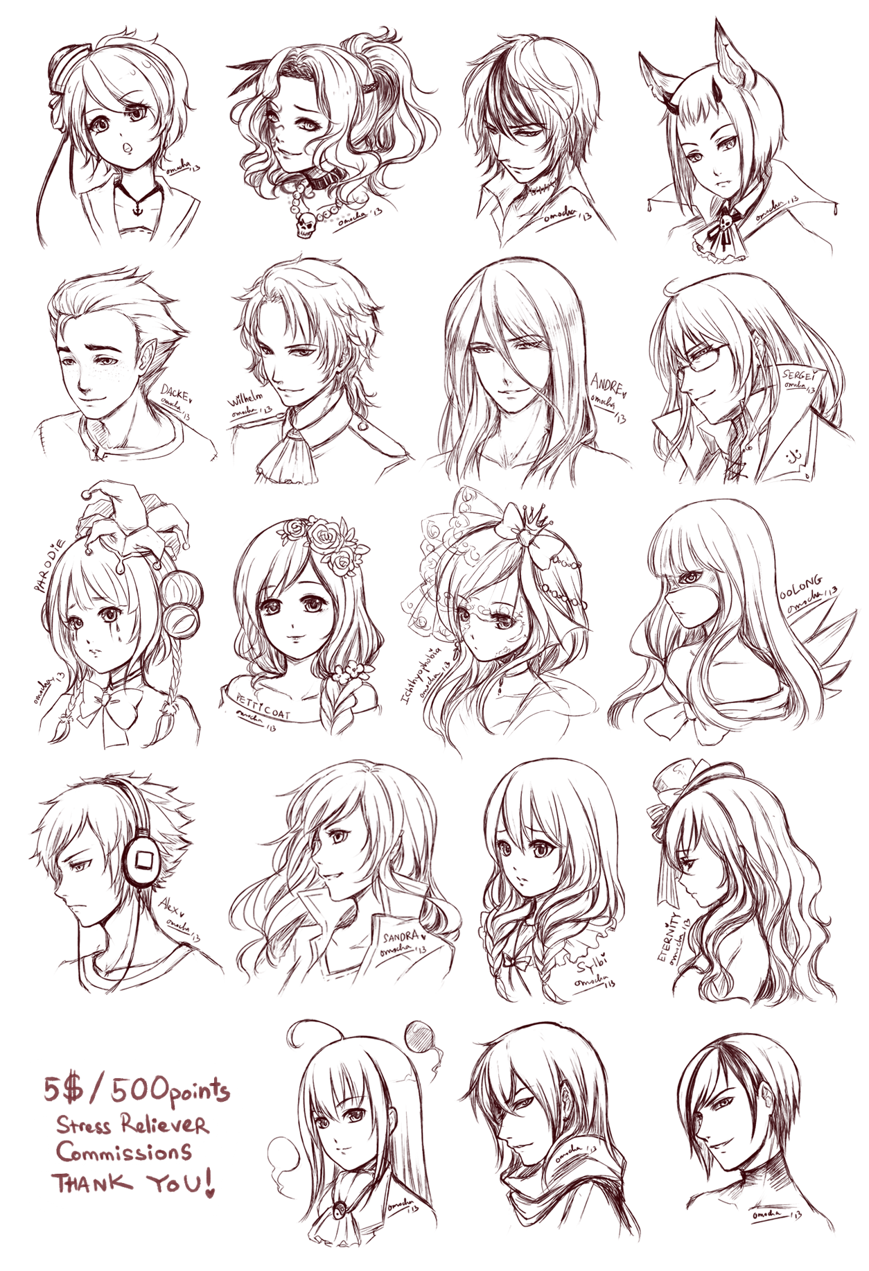 Src Batch7 By Zenithomocha On Deviantart Manga Hair Anime Hair How To Draw Hair