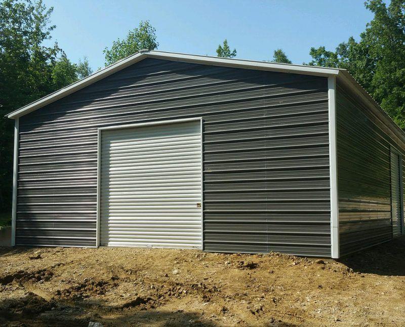 100 30 W X 60 L X 12 H Garage Vertical Roof Elite Metal Structures Metal Buildings Agricultural Buildings Metal Shop Building