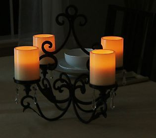 Qvc Flameless Candles Gorgeous Home Reflections Chandelier W4 Flameless Candles & Timer Inspiration