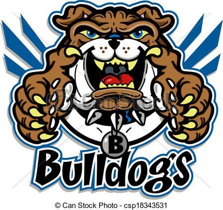 vector cute bulldog mascot stock illustration royalty free rh pinterest com Cartoon Bulldog Clip Art Bulldog Mascot Logos