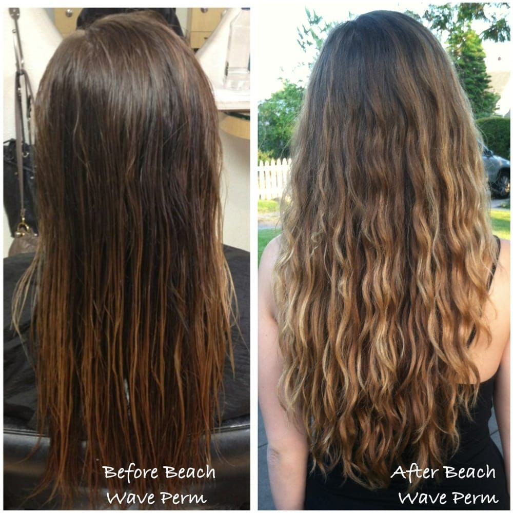 beach wave perm | before and after beach wave perm done by