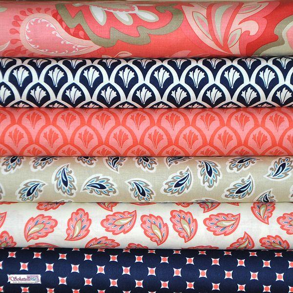 patchwork stoffpaket vintage verona riley blake von schatulleria ohrt auf dies und. Black Bedroom Furniture Sets. Home Design Ideas