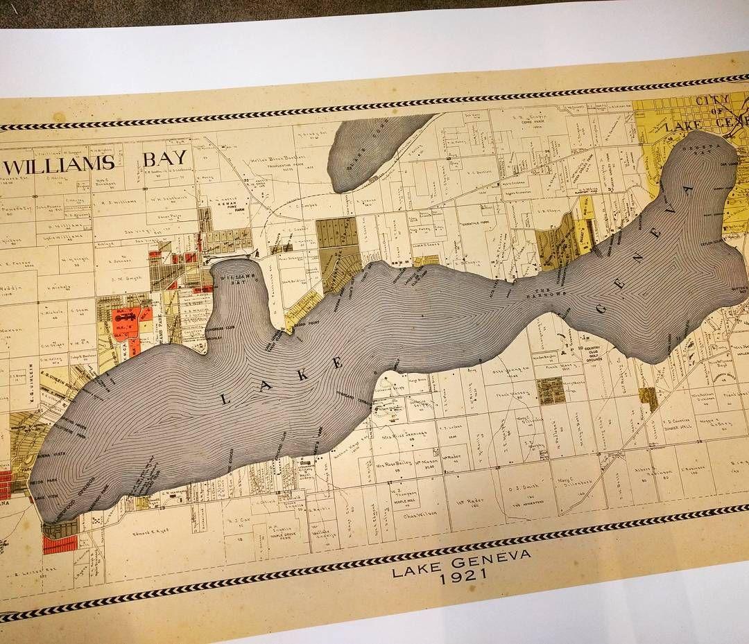 Printed this map of Lake Geneva in