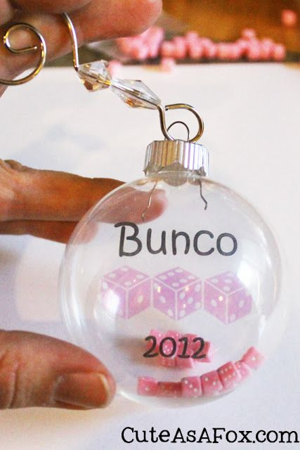 Bunco Christmas Ornament - Bunco Christmas Ornament Christmas Bunco Gifts, Bunco Party