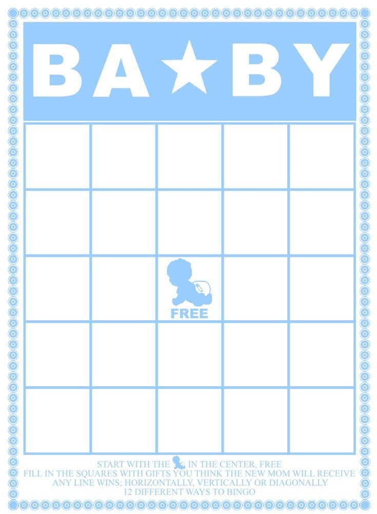 29 Sets Of Free Baby Shower Bingo Cards Your Guests Will Love By The Scrap Shoppe Blog