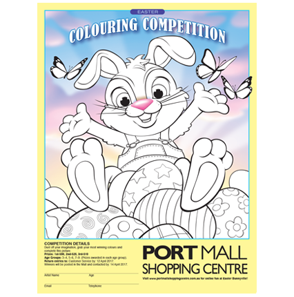 Mall Media Kids Australia Colouring Competition Posters Coloring Books Competitions For Kids Easter Colouring