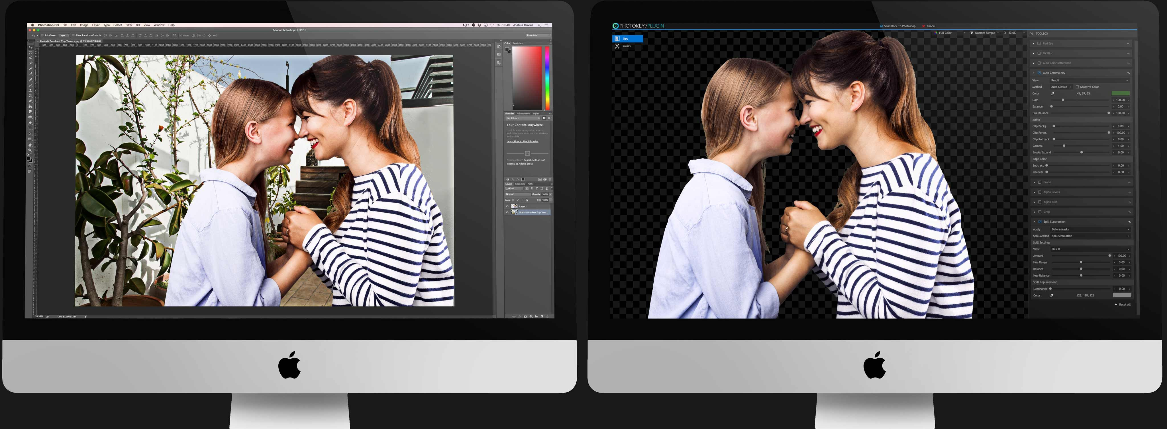 PhotoKey Plugin and Adobe Photoshop working side-by side