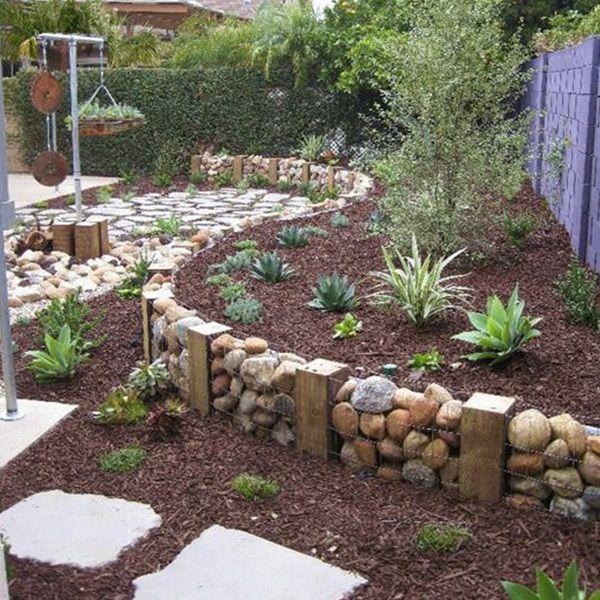 8 Ideas Para Decorar El Jardin Con Piedras Jardin Con Piedras Jardines Jardines Rusticos
