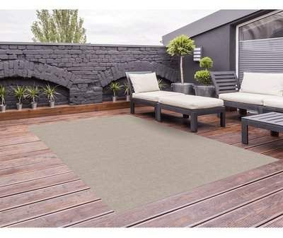 Tober Ribbed Taupe Indoor/Outdoor Area Rug