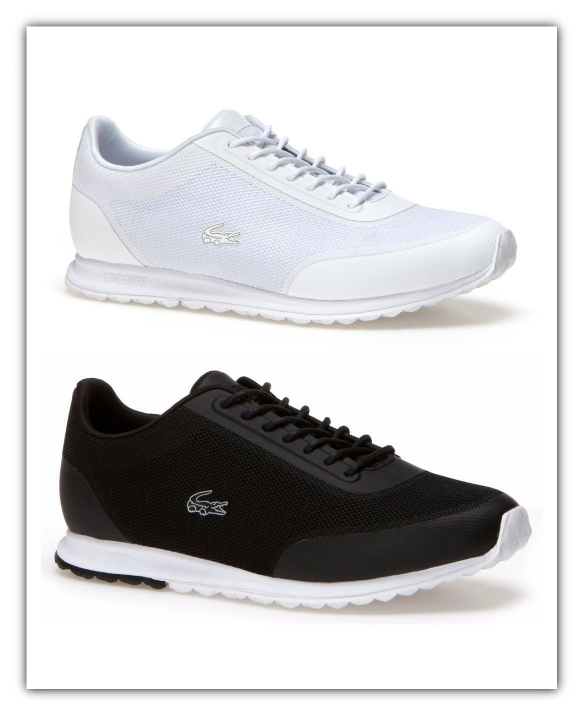 Lacoste Womens Shoes Helaine Runner 116 3 Sneakers Black/White