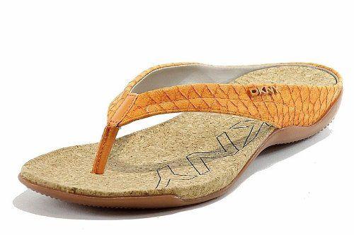 fb4dc51b7b1 Donna Karan DKNY Women s Fashion Sandals Sarasota Flip Flop Shoes - Orange