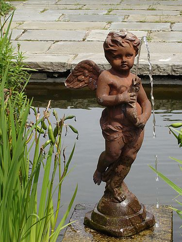 Cherub fountain on flickr.  From the Bartow-Pell Mansion