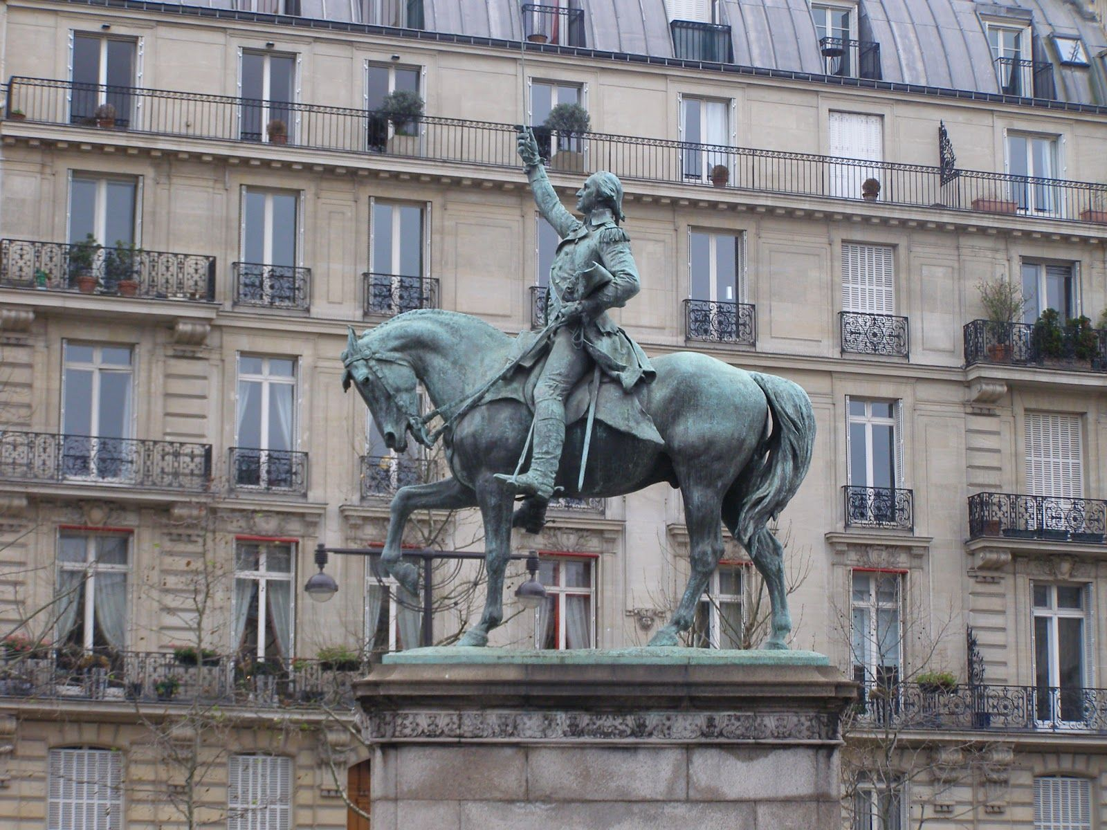 George Washington Equestrian Statue At Place D Iena By