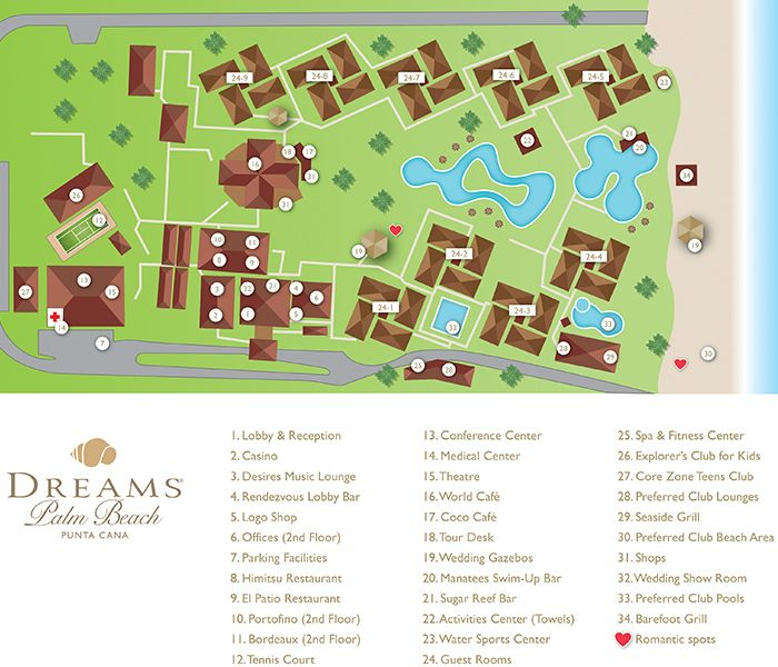 Dreams Palm Beach Resort Map Unlimited Vacation Club