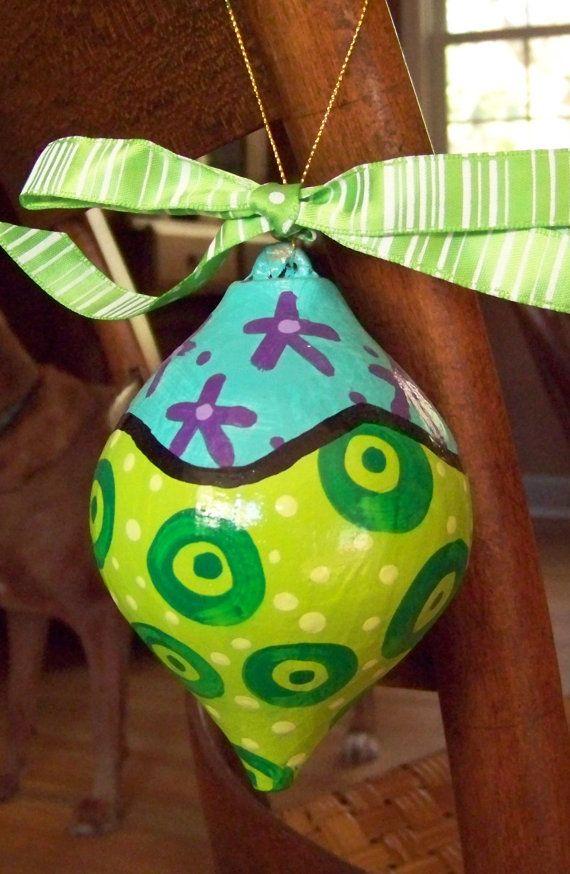 paper-mache ornament | Paper mache crafts, Christmas ...