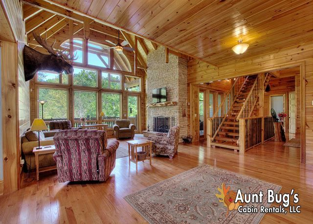 6 bedroom cabin near Pigeon Forge | Large Group Cabins | Pinterest ...