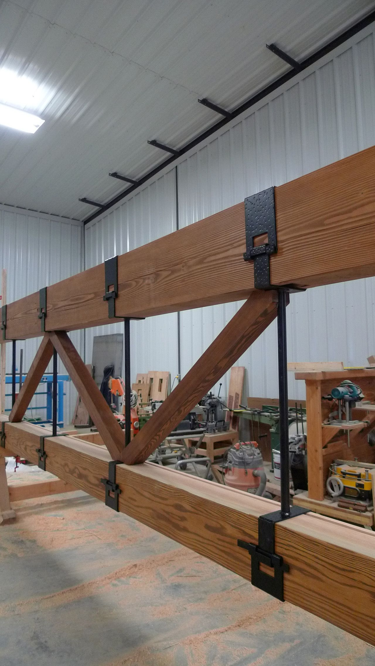 post bridge gambrel bar gainesville n truss home pole joists for roof queen how metal to wood railroad used sheds structure decor menards barns build packages premade plans drawing wooden homemade kits barn design steel model prebuilt diy pipe trusses portable garage fl garages