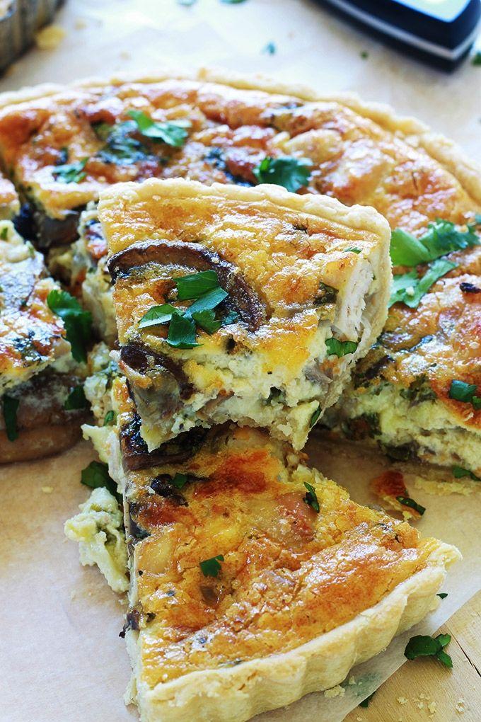 Quiche au poulet et champignons recette facile recette tartes sal es pinterest quiche - Cuisiner un roti de biche ...