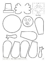 14 Photos of Cut And Paste Turkey Templates