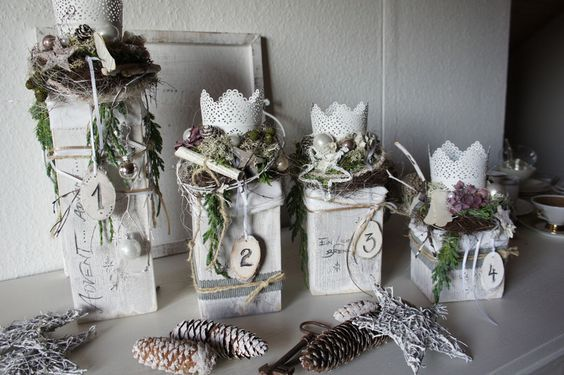 Adventi koszorúk természetes alapanyagokkal #Ästeweihnachtlichdekorieren