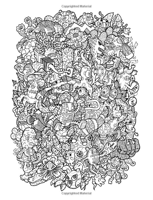 Doodle Fusion Zifflins Coloring Book Volume 2 Zifflin Lei