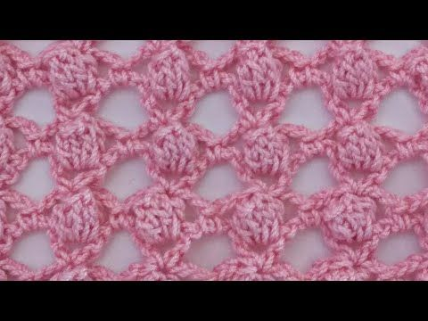 Punto palomitas calado . Muy fácil. Majovel crochet - YouTube ...