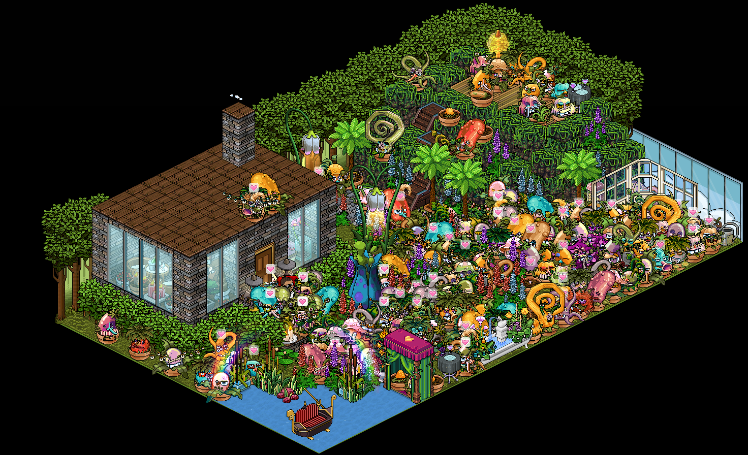 Cool Plants For Your Room Monster Plants Take Over Habbo Hotel Image Courtesy Of