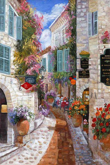 Il Mondo Di Mary Antony Paesaggistica Art Townscapes Art