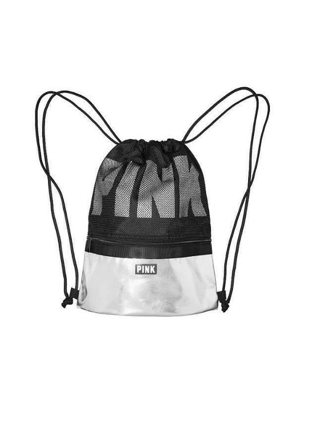 Victoria Secret PINK Yellow//Black Plaid Rhinestone Bling Mini//Small Backpack