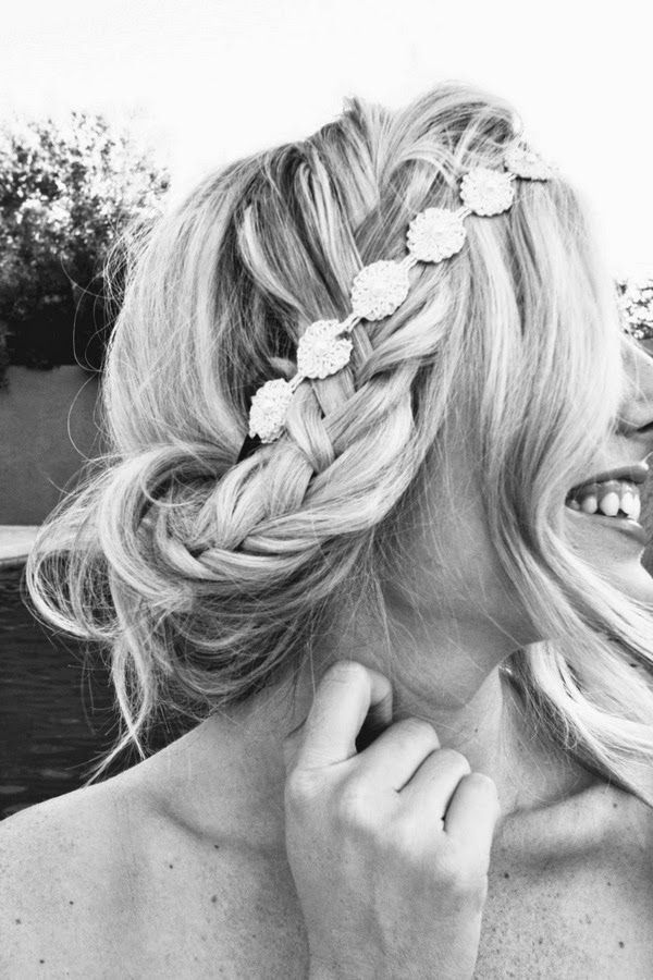 Love the headband intertwined with the braid! A fun way to dress up any hairstyle.