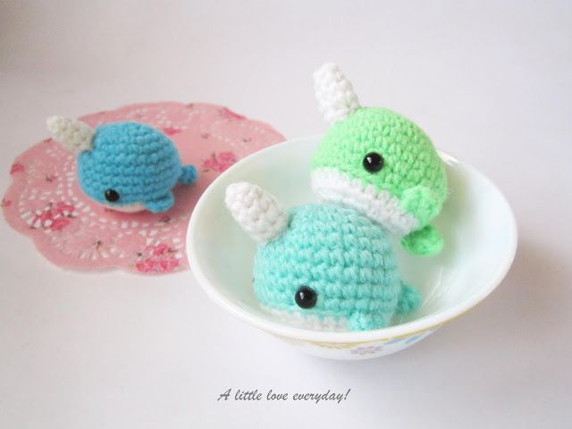 Amigurumi Narwhal Free Pattern A Little Love Everyday Crochet