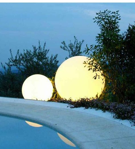 Led lighted spheres iluminacion pinterest lights and outdoor led lighted spheres aloadofball Choice Image