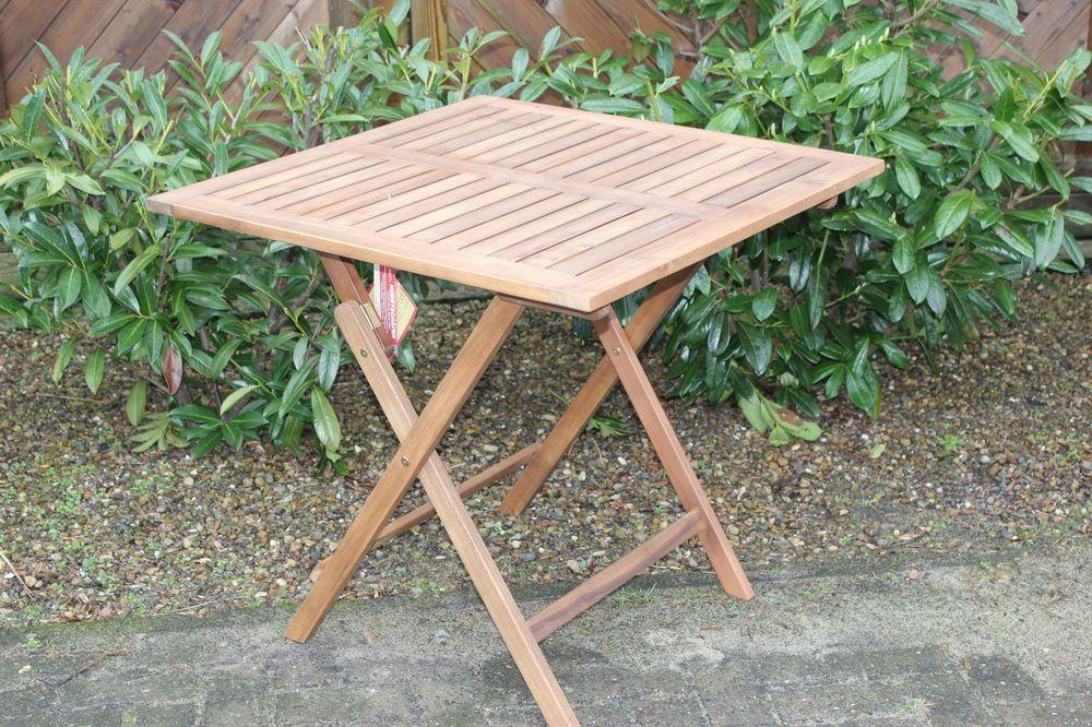 59 99 Tisch Beistelltisch 80 X 80 Gartentisch Akazie Geolt Neu Ovp