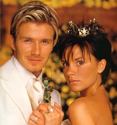Wedding Hairstyle Tips For Brides With Short Hair David And Victoria Beckham Victoria Beckham Wedding Victoria And David