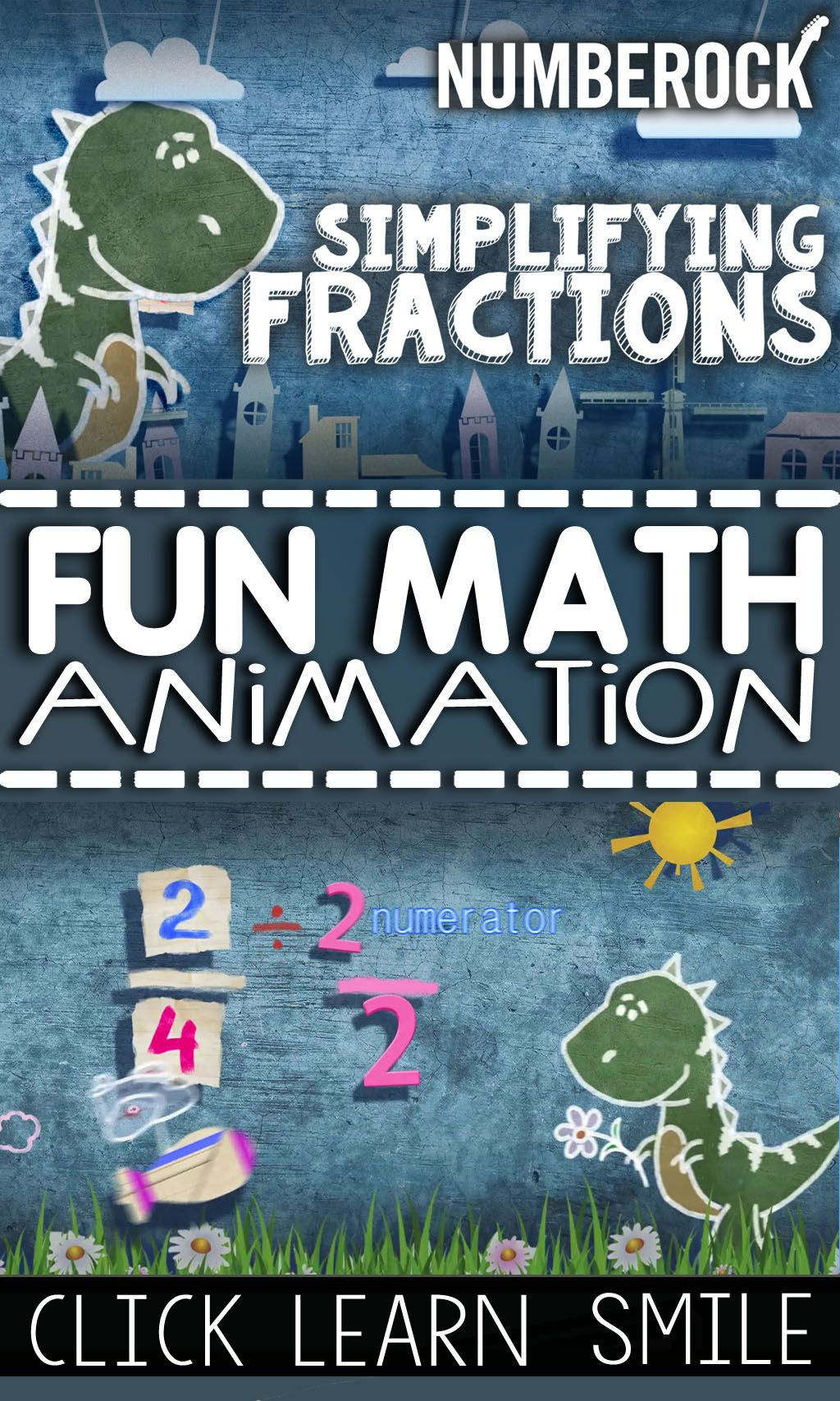 Fun Simplifying Fractions Animation: Child-Safe & Ad-Free | 4th ...