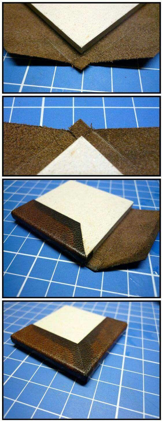 Leather Corner Fold Book Binding Leather Diy Book Binding Design