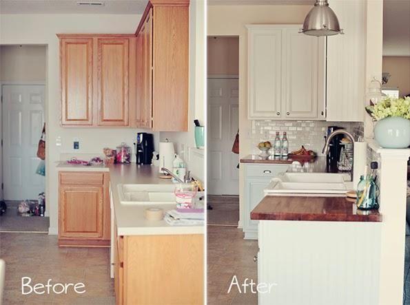 Antes y despu s una cocina de madera totalmente renovada - Pintar muebles de cocina antes y despues ...