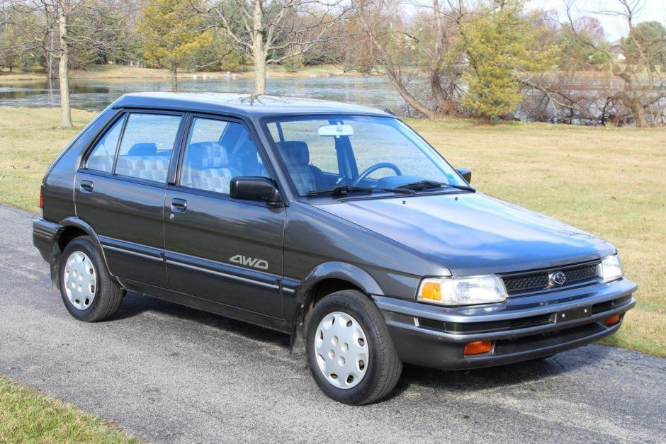 No Reserve 1991 Subaru Justy Gl 4wd In 2020 Subaru Justy Subaru 4wd
